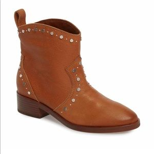 Dolce Vita Brown Leather Tobin Studded Boots NWT